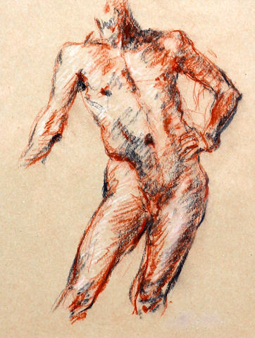 Robert O. Lenkiewicz (British, 1941-2002) Male nude torso