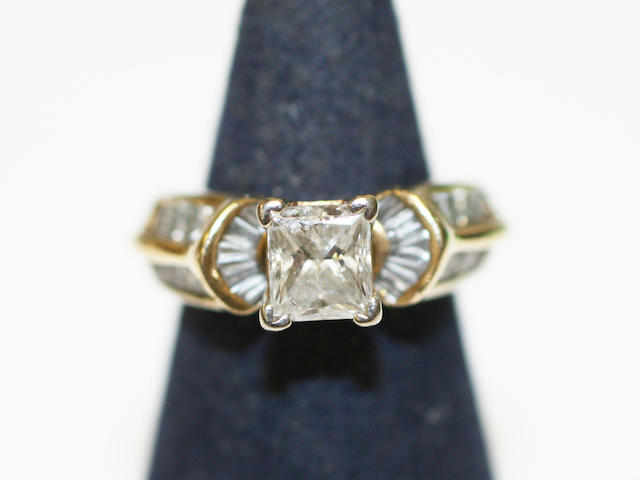 A diamond set ring
