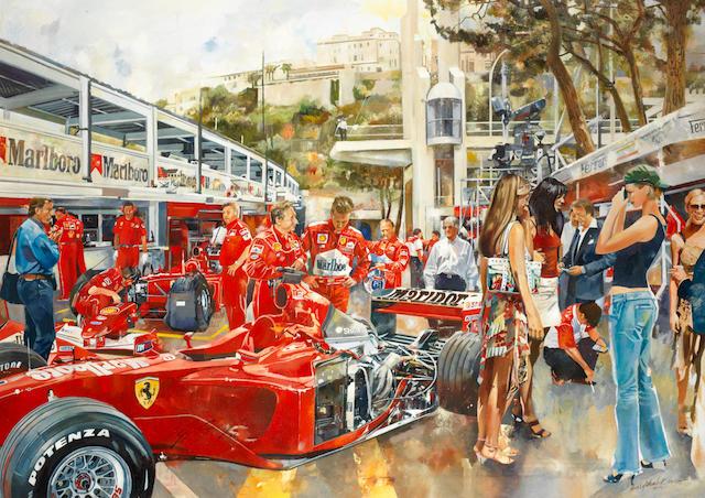 Criag Warwick, 'Ferrari pit scene',