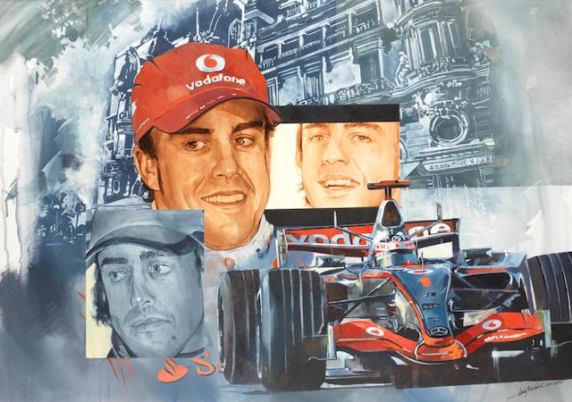 Craig Warwick, 'Fernando Alonso Monaco',