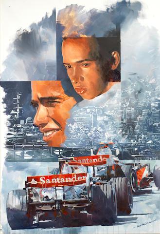 Craig Warwick, 'Lewis Hamilton Monaco',