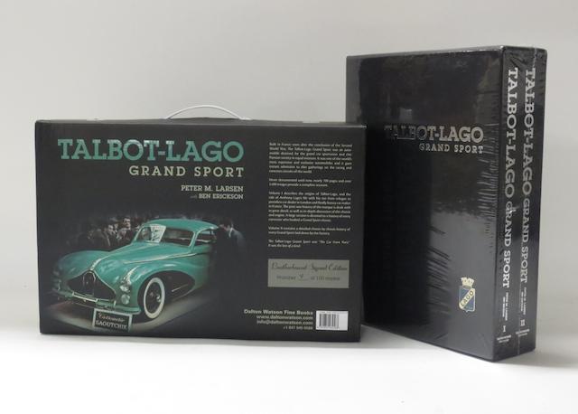 Peter M. Larsen with Ben Erickson: Talbot-Lago Grand Sport; two bound volumes,