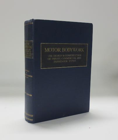 Herbert J. Butler: Motor Bodywork; 1924,