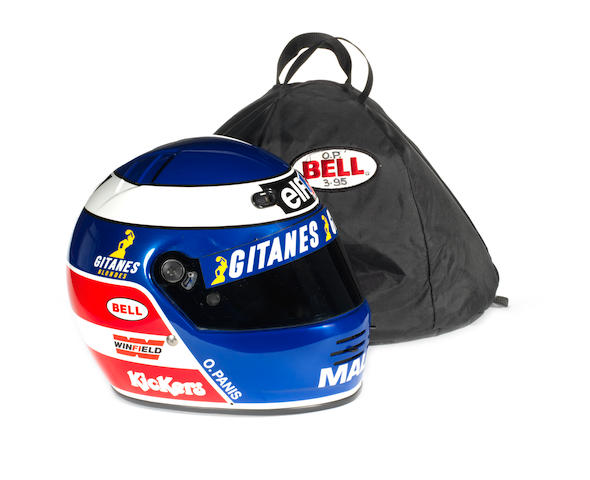 An Olivier Panis crash helmet by Bell, 1995,