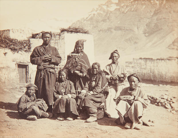 SPITI FRITH (FRANCIS) Natives of Spiti, captioned in the negative '3276'; Yak and Driver, c.1870 (2)