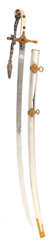 A Royal Equerry's Mameluke Hilted Sabre
