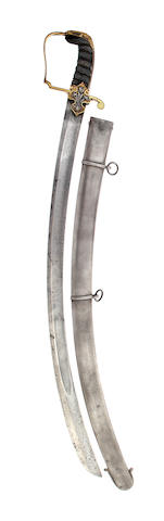 A Rare Regimental 1796 Pattern Light Cavalry Officer's Sabre of the 10th (Prince of Wales Own) Light Dragoons