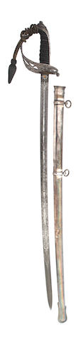 A Fine Silver Mounted Rifle Officer's Presentation Sword