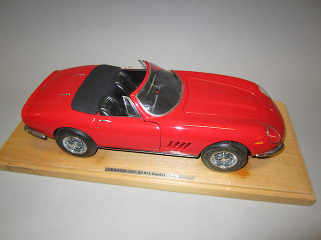 A fine 1:14 scale model of a Ferrari 275 GTB/4 Spyder by Carlo Brianza, Italian,