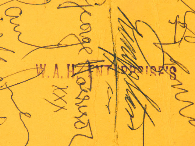 The Beatles: An autographed concert ticket for the Grosvenor, Norwich, Friday 17th May 1963,