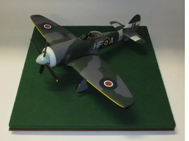 A 1:24 scale model of a Hawker Tempest, by Douglas Bone,