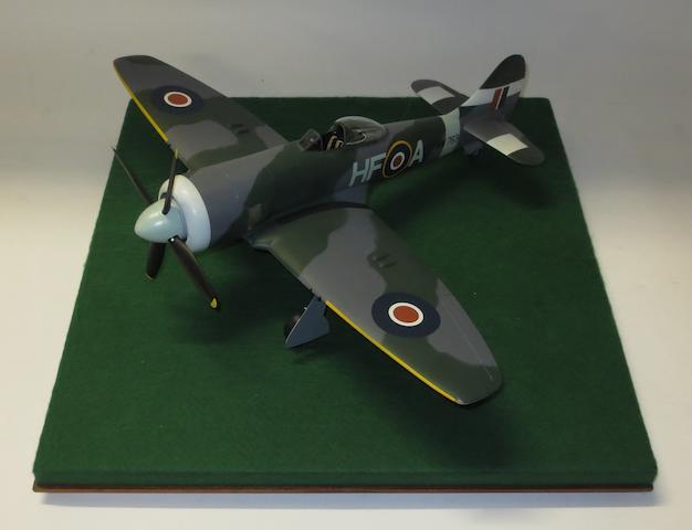 A 1:24 scale model of a Hawker Tempest, by Douglas Bone,