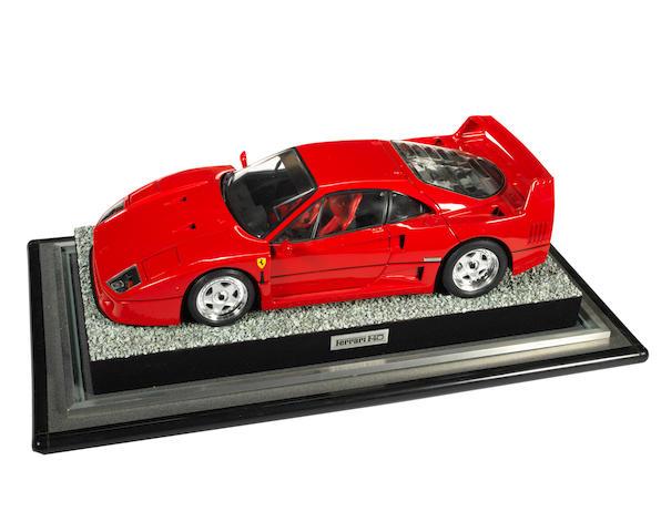 A Pocher 1:8 scale model of a Ferrari F40, by Rivarossi,