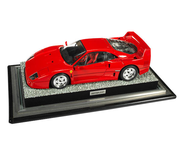 A Pocher 1:8 scale model of a Ferrari F40, by Rivarossi,