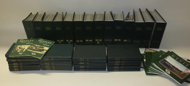 Bentley Drivers Club Review; bound volumes for 1946-2010,