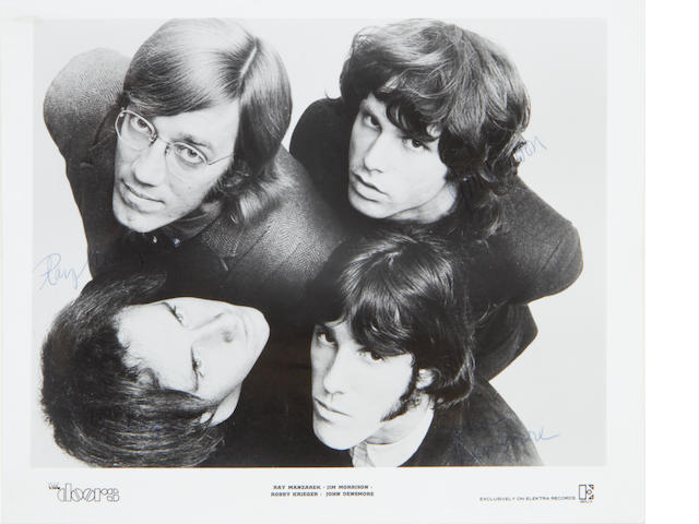 The Doors: a signed publicity photograph,