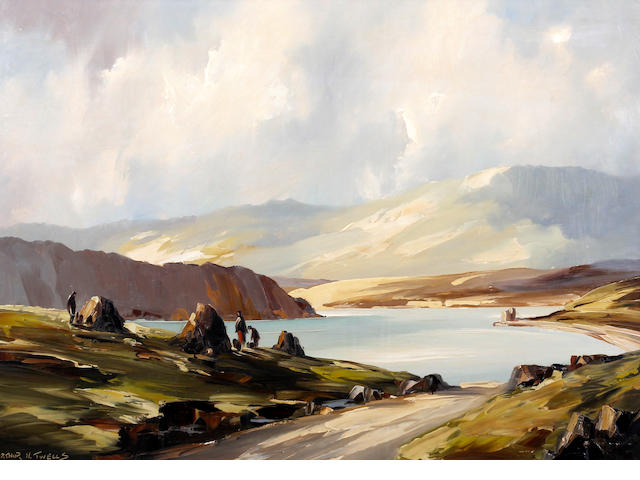Arthur H. Twells (Irish), (20th Century) Coastal landscape, possibly western Ireland