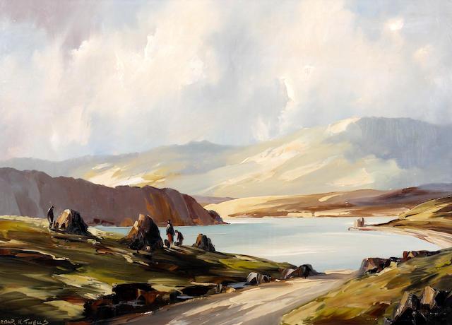 Arthur H. Twells (Irish), (20th Century) Coastal landscape, possibly western Ireland