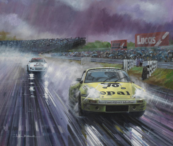 John Ketchell (1944- ), 'Porsche 911 turbo at Le Mans',