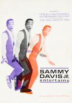 Sammy Davis Jr: An autographed concert programme, 1968,
