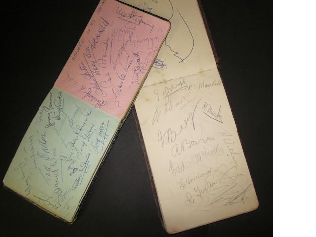 Two autograph books containing 1966/67 Manchester United/City autographs