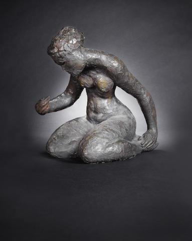 Guy Martin Boyd (Australian, 1923-1988) Kneeling woman height 29.5cm (11 5/8in)