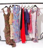 Nine floral designer dresses