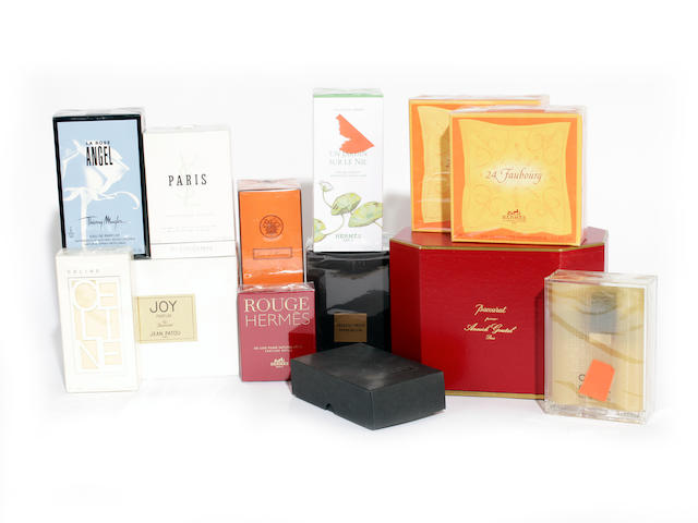 A large group of designer perfumes