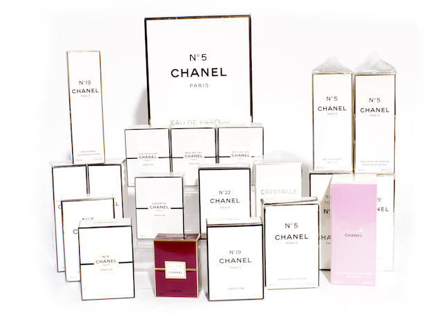 A group of Chanel perfume and related products