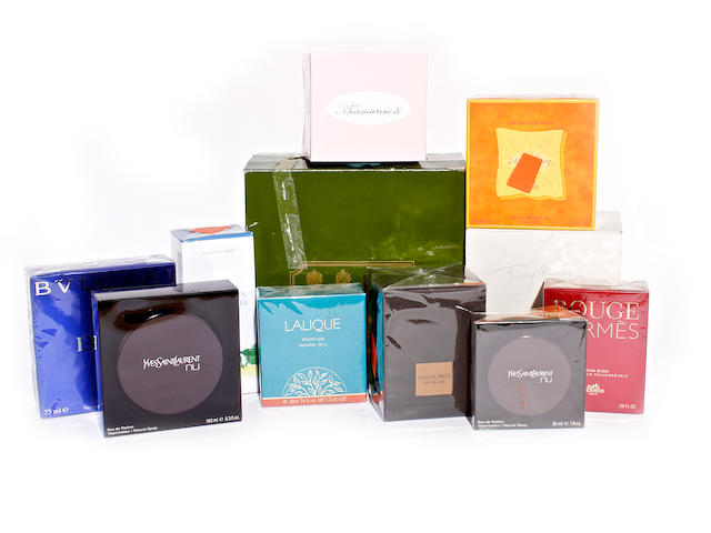 A group of designer purfume and related products