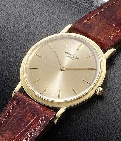 Patek Philippe. An 18ct gold manual wind wristwatch Ref:3520, Case No.2709851, Movement No.1178124, Circa 1960