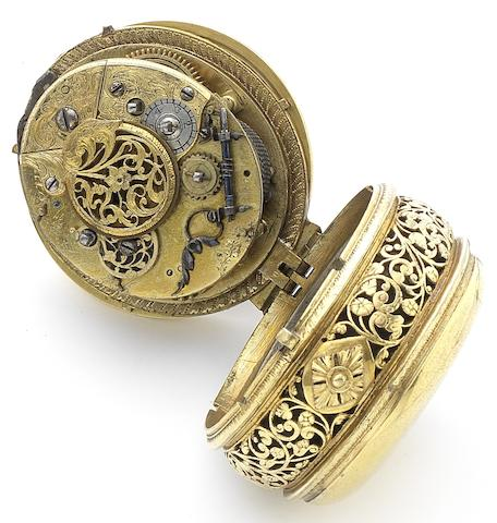 Unsigned. A rare early 17th century ovalcase clock watch with alarm Possibly German, Circa 1620
