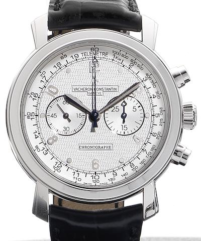 Vacheron Constantin. A fine 18ct white gold manual wind chronograph wristwatch together with fitted presentation box and papersMalte Chronograph, Ref:47120, Case No.1142159, Movement No.130106, Sold by Wempe 3rd October 2007