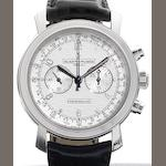 Vacheron Constantin. A fine 18ct white gold manual wind chronograph wristwatch together with fitted presentation box and papers Malte Chronograph, Ref:47120, Case No.1142159, Movement No.130106, Sold by Wempe 3rd October 2007