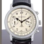 Audemars Piguet. A fine and rare 18ct white gold chronograph wristwatch together with box and papers Jules Audemars, Case No.G48879, Sold 12th November 2009