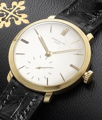 Patek Philippe. An 18ct gold manual wind wristwatch with Patek Philippe fitted boxCase No.50909, Movement No.926226, Circa 1940