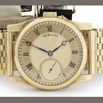 Charles Frodsham. A fine and interesting 18ct gold bracelet watch specially commissioned for the composer Kaikhosru Shapurji Sorabji Circa 1937