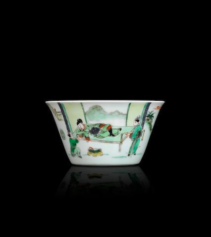 A famille verte 'Li Bai' wine cup Yongzheng
