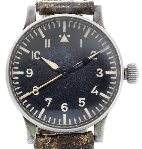 Stowa. A rare German military issue pilot's observation wristwatch Case and Movement No.5694, Circa 1940