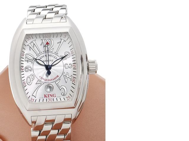 Franck Muller. A fine stainless steel automatic calendar bracelet watch King Conquistador, No.521, Ref.8005, Sold 3rd June 2006