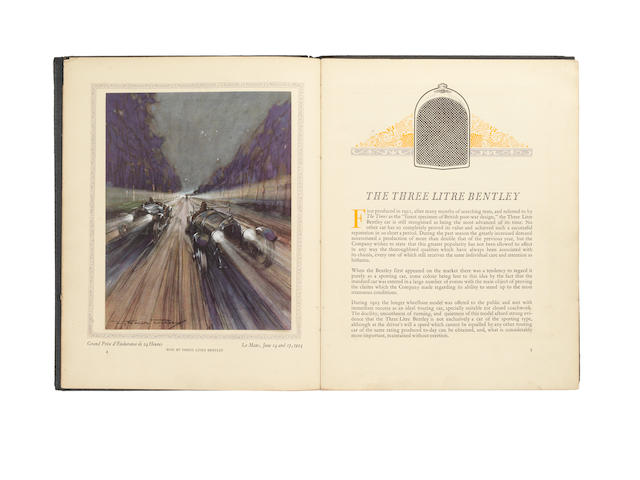 A Three Litre Bentley No 7 catalogue, issued October 1924,