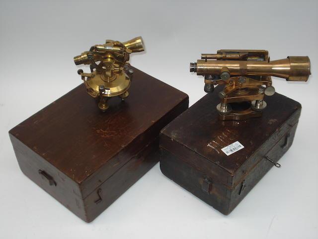 A Cook Troughton & Simms dumpy level and a Troughton & Simms theodolite, English, early 20th century, (2)
