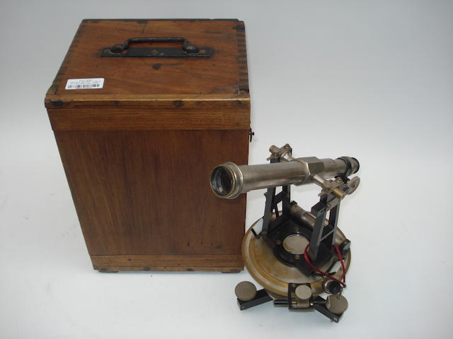 An A. Berthelemy/Lepetit brass theodolite,  French,  early 20th century,
