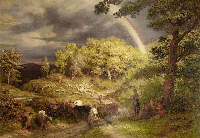 James Thomas Linnell (British, 1820-1905) 'The Rainbow