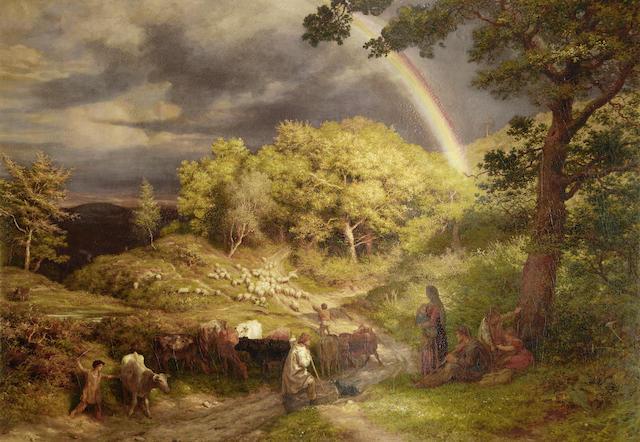 James Thomas Linnell (British, 1820-1905) 'The Rainbow<BR />