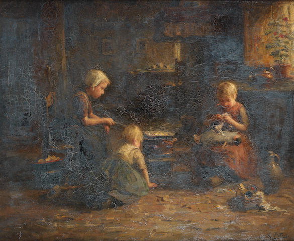 Evert Pieters (Dutch, 1856-1932) Making pancakes