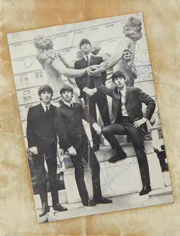 The Beatles: An autographed concert programme, 1964,
