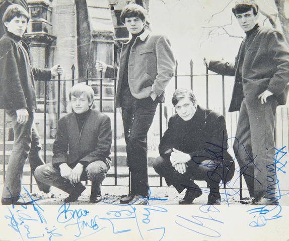 The Rolling Stones: An autographed Rolling Stones fan club card, 1963,