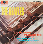 The Beatles: A good black/gold label pressing of the album 'Please Please Me' by the Beatles, 1963,