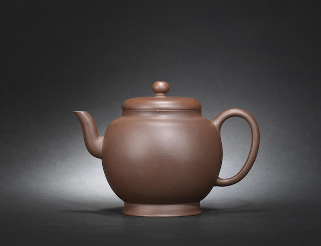 An Yixing teapot and cover Mid Qing dynasty, signed Yi Gong